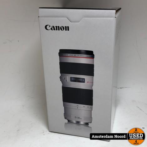 Canon EF 70-200mm F/4L USM (Nieuwstaat+Bon)