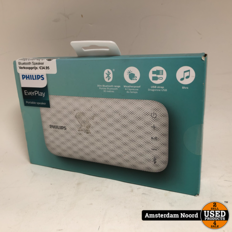 Philips EverPlay BT3900W Bluetooth Speaker (Nieuw)