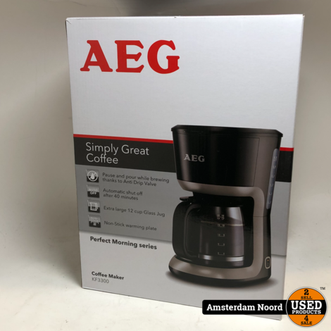 AEG KF3300 - Koffiezetapparaat Zwart