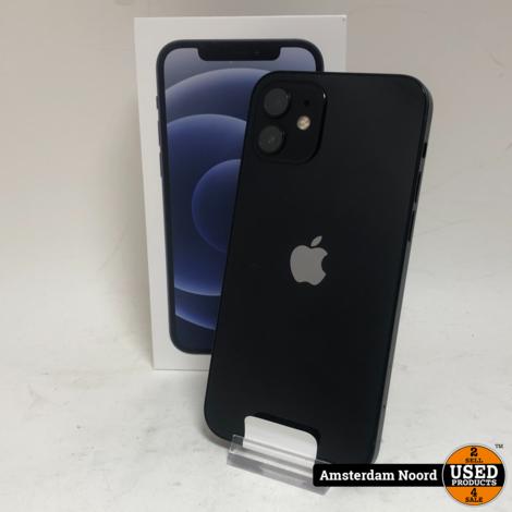 Apple iPhone 12 64GB Zwart (Nieuwstaat+Bon)