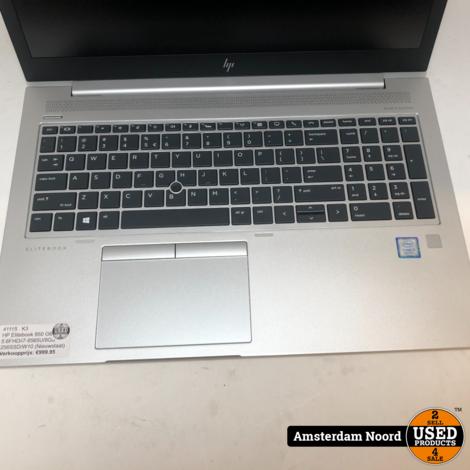 HP Elitebook 850 G6 15.6FHD/i7-8565U/8GB/256SSD/W10 (Nieuwstaat)