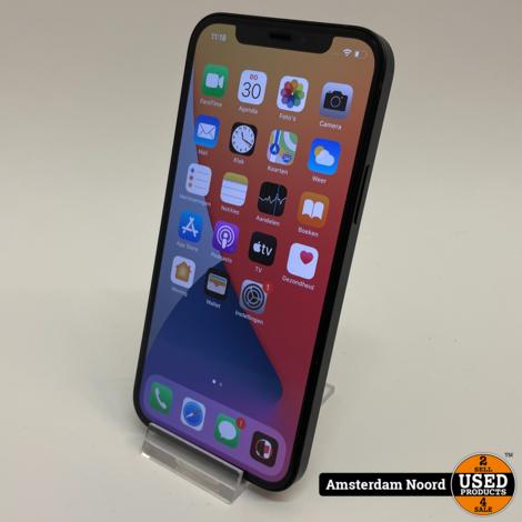 Apple iPhone 12 128GB Zwart (Nieuwstaat+Bon)