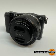 Sony Sony A5000 + 16-50mm f/3.5-5.6 Zwart 20MP Vlog Camera