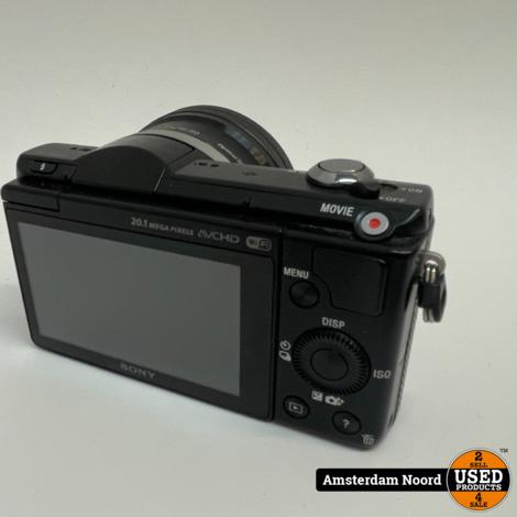 Sony A5000 + 16-50mm f/3.5-5.6 Zwart 20MP Vlog Camera