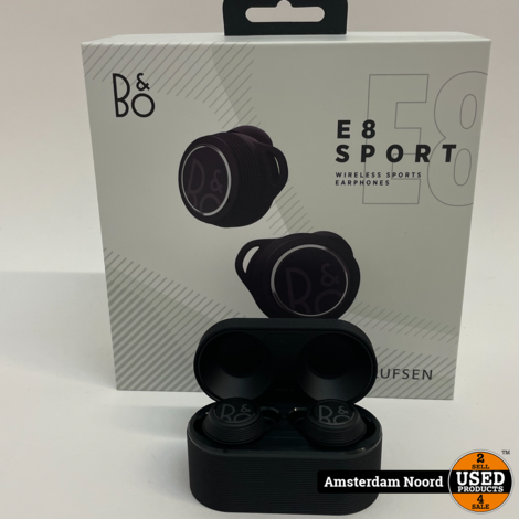 Bang &Olufsen BeoPlay E8 Sport - Zwart oortjes (Nieuwstaat+ Bon)