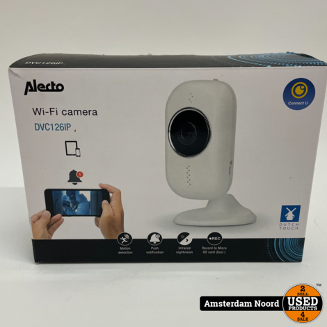 Alecto DVC126IP - Wifi binnencamera (Nieuw)