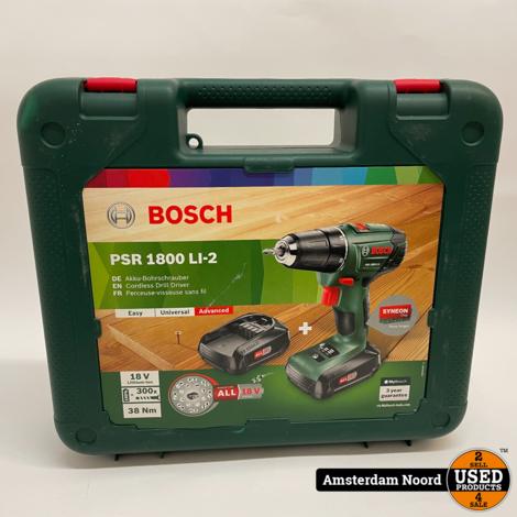 Bosch PSR 1800 LI-2 Accuboormachine (Nieuw)