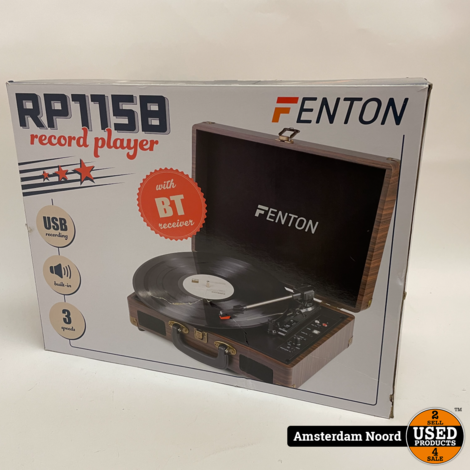 Fenton RP115 Platenspeler met Bluetooth en USB