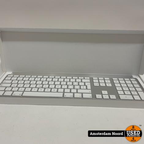 Apple Keyboard + Nummeriek Keypad A1243 QWERTZ Model (Nieuwstaat)