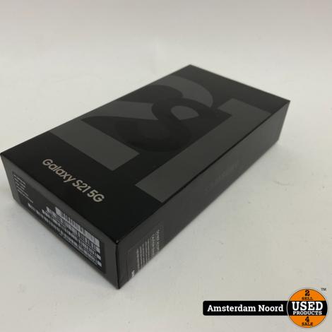 Samsung Galaxy S21 5G 128GB Phantom Gray (Nieuw+Bon)