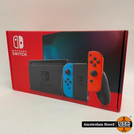 Nintendo Switch Console Rood/Blauw V2 2019 Model (Nieuwstaat)
