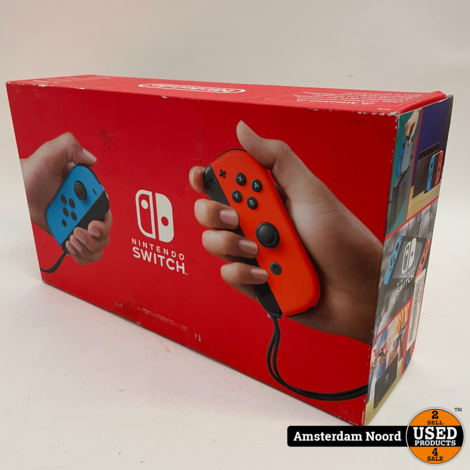 Nintendo Switch V2 Rood / Blauw