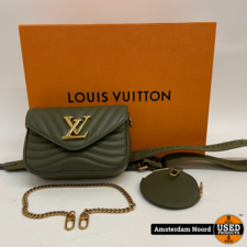 Louis Vuitton Louis Vuitton New Wave Multi-Pochette Khaki M56471 (Nieuwstaat+Bon)