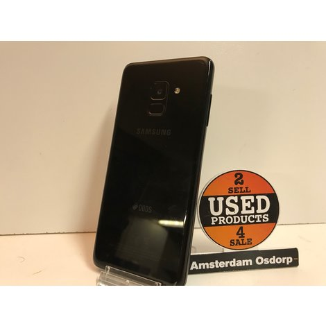 Samsung Galaxy A8 2018 32GB zwart | zeer nette staat