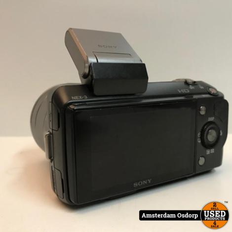 Sony Alpha NEX 3 body + 18-55mm lens | gebruikt