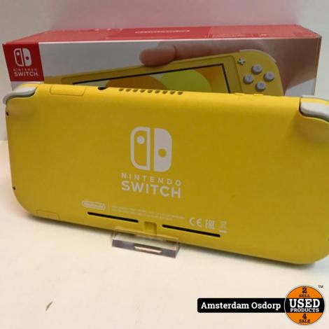 Nintendo Switch Lite Geel | Nieuwstaat + Bon