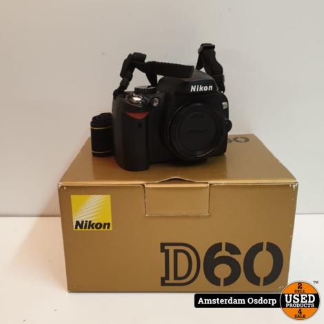 Nikon D60 Body + extra accu | Zeer nette staat