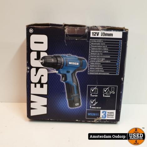Wesco WS2611 12V Schroefmachine   nette staat