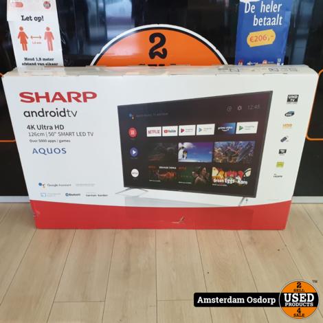 Sharp 50BL2 50inch 4K Ultra-HD Android Smart TV | NIEUW 1 jaar garantie