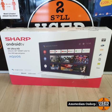 Sharp 40BL5EA 4K Ultra HD Android smart tv | NIEUW 1 jaar garantie