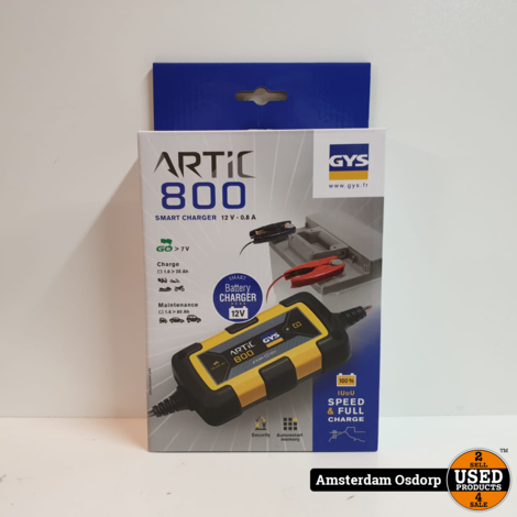 GYS Artic 800 Smart Charger 12V - 0.8A | Nieuw