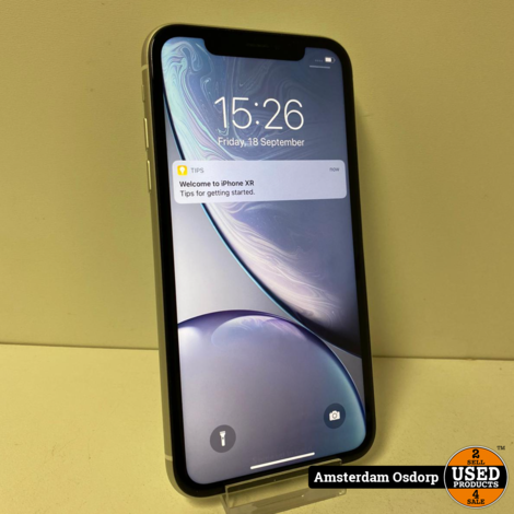 Apple iphone Xr 128GB Zilver | nette Staat