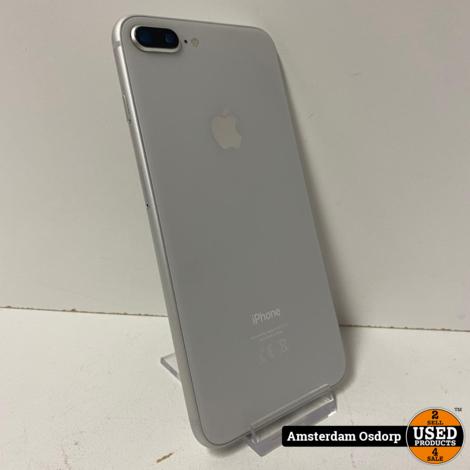 Apple IPhone 8 Plus zilver 256GB   batterij 85%   nette staat