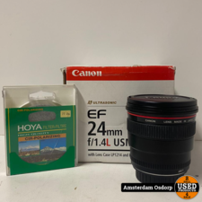Canon Canon EF 24mm f/1.4L USM Lens | Incl uv filter | Nieuwstaat