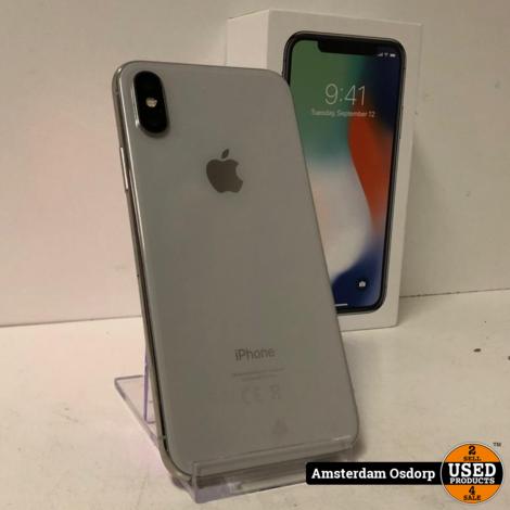 Apple iPhone X 64GB zilver | 90 procent batterij | nette staat