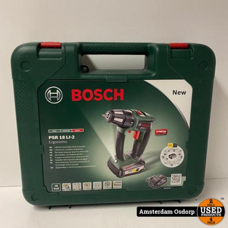 Bosch PSR 18 Li-2 | 1X 18v 2.5Ah accu | Lader | NIEUW