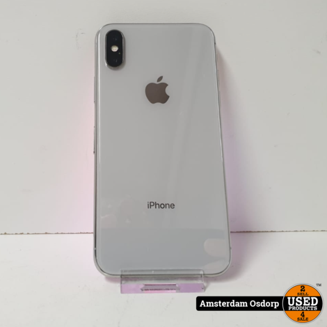 Apple iPhone X 64GB Silver   Nette Staat