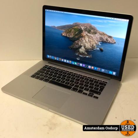 Apple Macbook Pro 15 Mid 2014 | Core i7 | 16GB | 512SSD | zeer nette staat