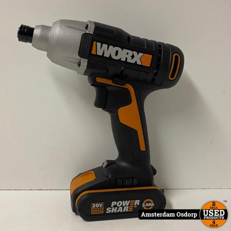 Worx WX291.9 + 2.0Ah Accu + Acculader