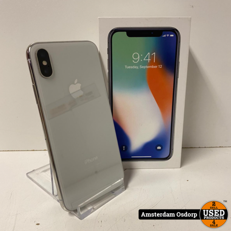 Apple iPhone X 64GB Silver | Nette Staat