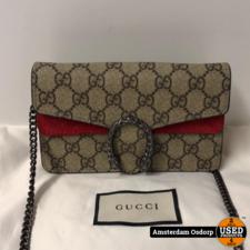 Gucci Gucci Dionysus GG Supreme Mini Bag Red | Nieuwstaat
