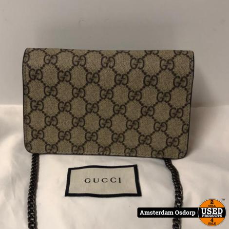 Gucci Dionysus GG Supreme Mini Bag Red | Nieuwstaat