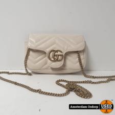 Gucci Gucci Mamront White Leather Handbag For Women | ZGAN