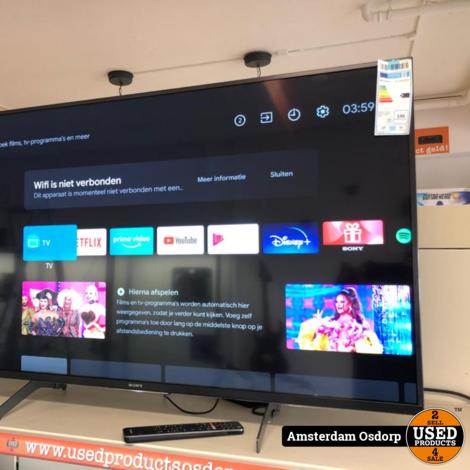 Sony Bravia KD-49XH8599 49 inch 4K Smart tv LED | nette staat