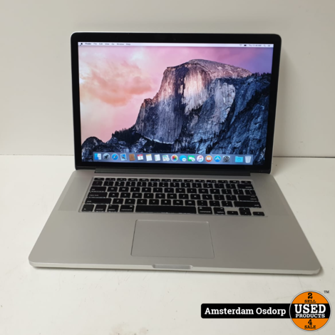 Macbook Pro Retina 15 2015 | i7 2,5 Ghz | 16GB  | 500SSD | 834 Cycli