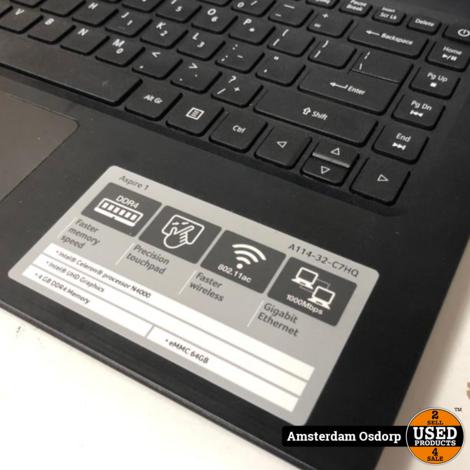 Acer Aspire A114-32-CH7Q | nieuwstaat | 1 jaar garantie