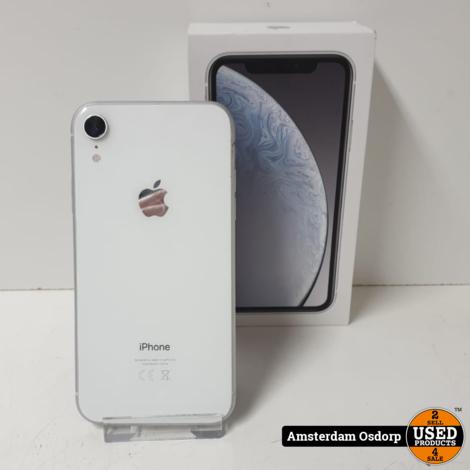 Apple iPhone XR 128GB wit   gebruikte staat