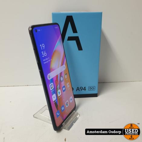 Oppo A94 5G 128GB Zwart | absolute nieuwstaat