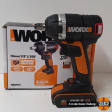 Worx Worx Slagmoer WX279.9 | 20v 2.0 AH batterij | Nieuwstaat