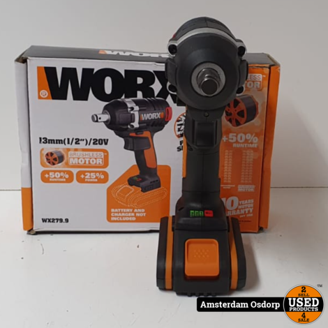 Worx Slagmoer WX279.9 | 20v 2.0 AH batterij | Nieuwstaat