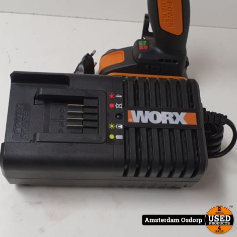 Worx WX279.9 slagmoer | 2x 20v 2.0Ah + lader | ongebruikt