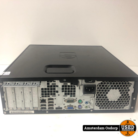 hp compaq 8000 elite sff business pc | nette staat| + qwerty toetsenbord + muis