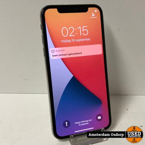 Apple iPhone X 64GB zilver   gebruikte staat