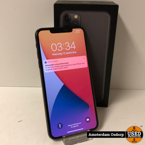 Apple iPhone 11 Pro max 64GB Space Grey | In nette staat
