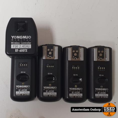 Yongnuo RF-602RX Draadloze flitser +  RF-600TX Afstandsbediening