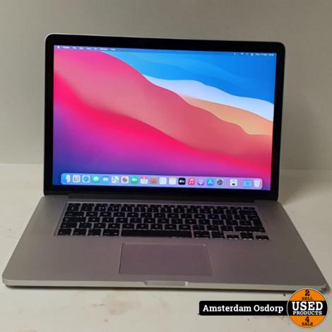 Apple Macbook Pro 15 2015 | Core i7 | 16GB | 512SSD | nette staat